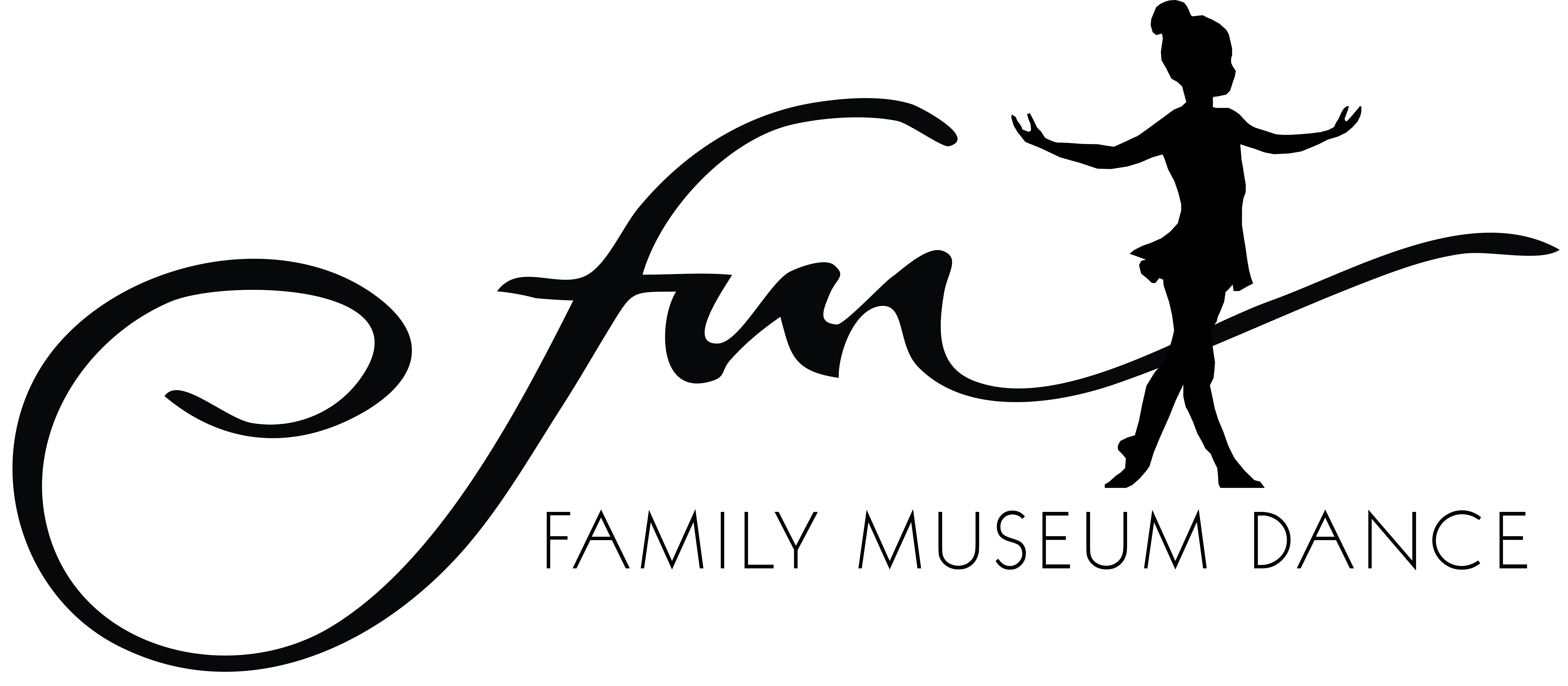 Family museum dance logo with dancer
